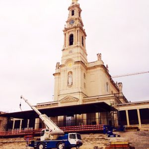 Obras de demolição no Santuário de Fátima